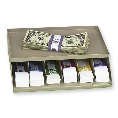 Coin Wrap or Bill Strap Rack,9-3 10 x8 x2-3 5 ,Pebble Beige, Sold as 1 Each