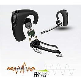 Bluetooth Headset V5.0, Ultra Light Weight(12g) Hand Free Wireless Bluetooth Earpiece 240 Hours Stand-By Sweatproof…