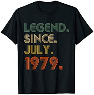Legend Since July 1979  40th Birthday Gifts 40 Yrs Old T-shirt | Size S - 5XL