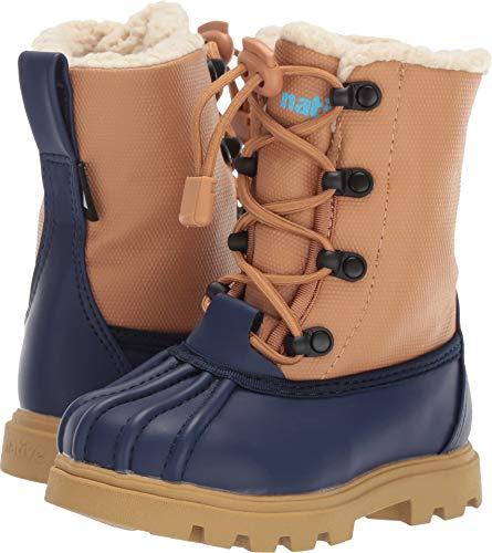 Native Kids Shoes Unisex Jimmy 3.0 Treklite (Toddler/Little Kid) Regatta Blue/Quicksand Brown/Gum Rubber 8 M US Toddler (Native Jimmy Shoes Boots)