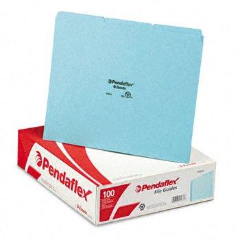 Pendaflex PN203 Top Tab File Guides, Blank, 1/3 Tab, 25 Point Pressboard, Letter, 100/Box