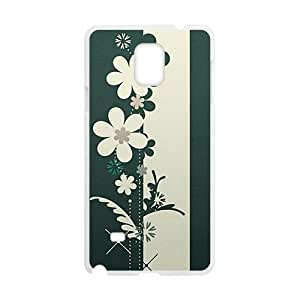 Personalized Clear Phone Case For Samsung Galaxy Note 4,cartoon flower graffiti