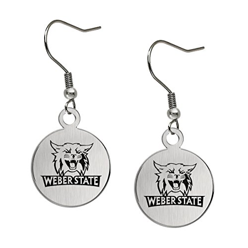 - Weber State Wildcats Satin Finish Stainless Steel Disc Earrings