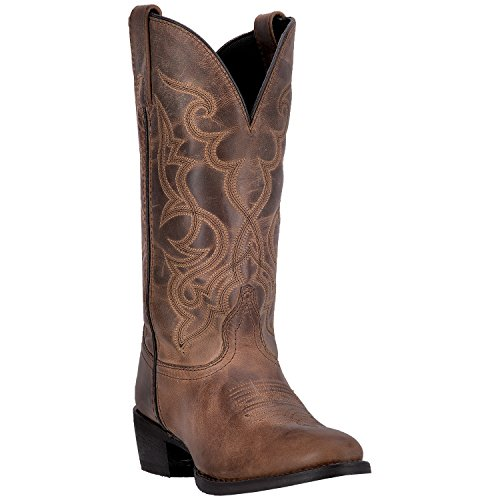 (Laredo Women's Maddie R Toe Cowboy Boot 51112 (6M) Distressed Tan )