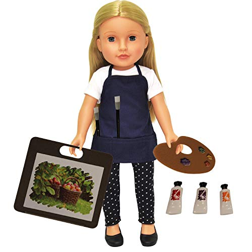 Doll Art Set - 11 Piece Art Set for 18 inch Dolls - Fits American Girl Doll