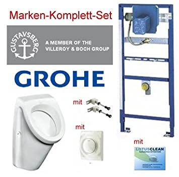 Gut Grohe Vorwandelement Urinal Set + Gustavsberg Design Urinal  RJ09