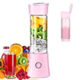 Portable Mini Blender, Juicer Blender Smoothie Maker with 3D 6 Blades...