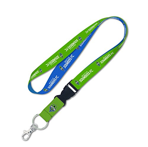 MLS Seattle Sounders Lanyard with Detachable Buckle, 1-Inch