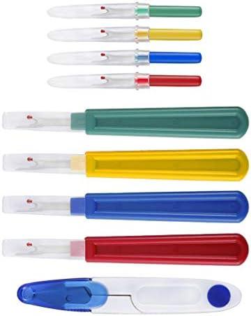 9点/セット リッパー 糸切りはさみ キャップ付 耐久性 耐摩耗性