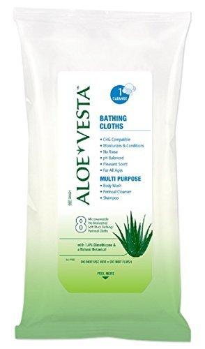 Convatec Aloe Vesta Bathing Cloths Qty 192