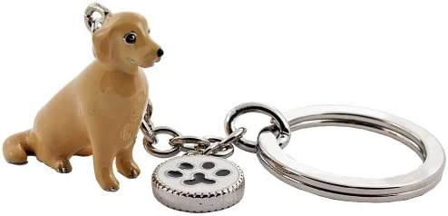 Llavero Doggy Love Golden Retriver beige: Amazon.es ...