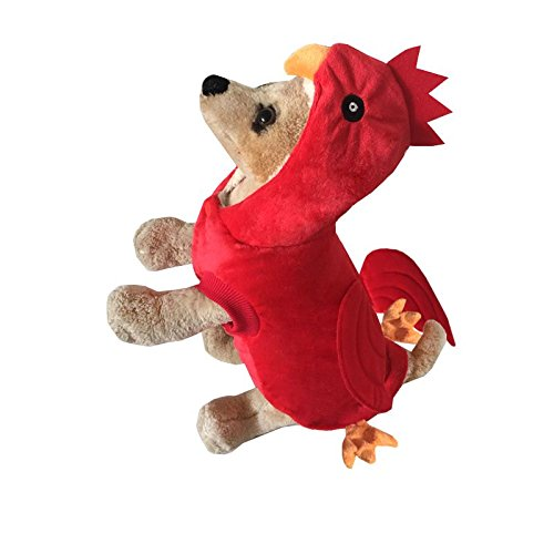 Pineocus Red Soft Chicken Style Pet Dogs Cosplay Coat Size M]()