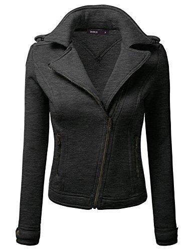 Color Thickened Dark Lapel DYF Grey Coat Big Size Long L Sleeve Pocket Zipper Solid pvvEwAq