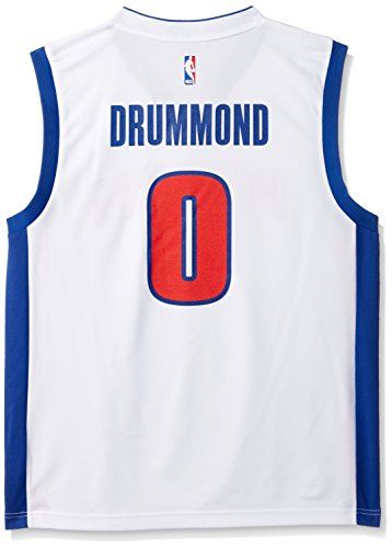 (NBA Men's Detroit Pistons Andre Drummond Replica Player Home Jersey, Large, White)