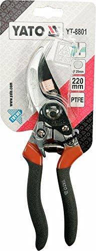 YT-8801 Yato garden PTFE coated By pass pruner 220 mm soft grip handles