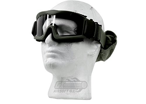 Lancer Tactical Airsoft Safety Goggles, Vented, OD Green by Lancer Tactical