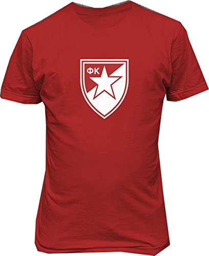 (FC crvena serbia red star Belgrade Soccer Football t Shirt (xlarge))