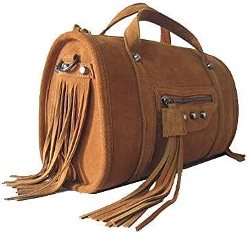 パッケージ スエード/タッセル/ヨーロッパとアメリカンスタイルのファッションハンドバッグ、さんポータブル手ショルダー/メッセンジャーバッグ、ソフト/摩耗(28x10x18cm) よくできた
