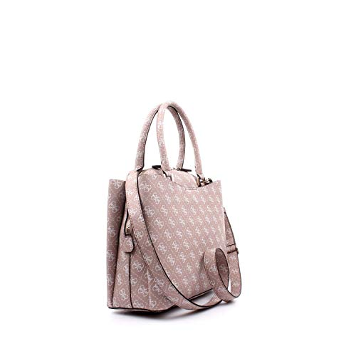Blanc Girlfriend Guess Large rosewood Portés Maci Main Sacs Satchel x04qfRx6