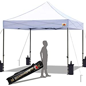 ABCCANOPY Pop up Canopy Tent Commercial Instant Shelter Gazebo with Wheeled Carry Bag, Bonus 4 Canopy Sand Bags