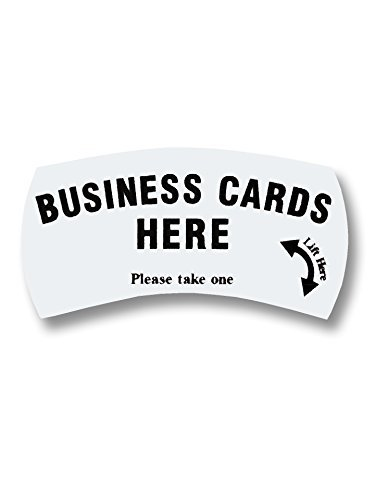 Amazon marketing holders card caddie business cards here marketing holders card caddie quotbusiness cards here please take onequot sticker pack colourmoves