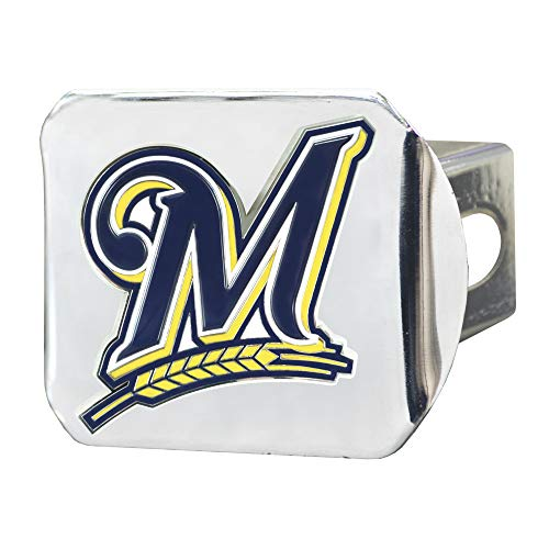 (FANMATS MLB - Milwaukee Brewers Color Hitch - Chrome )