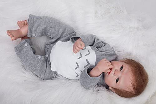 Jacob 22 Reborn Baby Dolls Silicone Boys That Look Real Lifelike Toddler Live Babies Girls Realistic Eyes Open