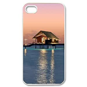 Beautiful Maldives Customized Cover Case with Hard Shell Protection for Iphone 4,4S Case lxa#470305