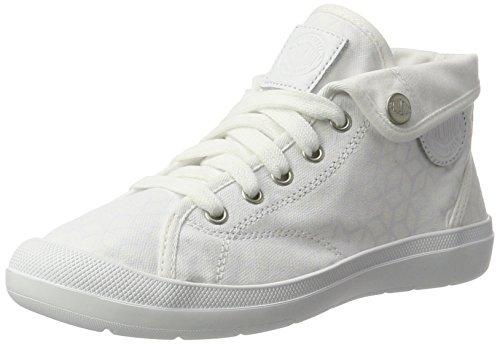 Palladium Aventure, Zapatillas para Mujer Blanco (White/white/cubic Print)