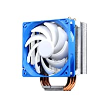 Silverstone Tek Argon Series CPU Cooler with 120mm Cooling Fan for Socket LGA775/1155/1156/1366/2011, AM2/AM3/FM1/FM2, White AR01