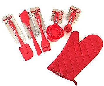 Baking Supplies Set: Betty Crocker Essentials Baking 5 Piece Utensil Bundle with Bonus Oven Mitt