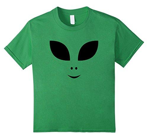 Kids Cute Alien Face Halloween Costume T-Shirt 12 (Space Girl Halloween Costumes)