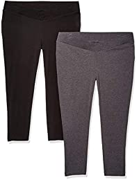 459fb28263865 Motherhood Maternity Womens Bump Start 2 Pack Under Belly Crop Length Leggings  Leggings