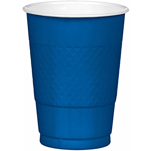 16 oz Navy Blue Plastic Cups, 20 Pack