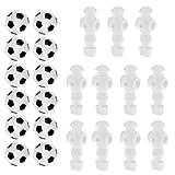 "MonkeyJack 11 Pieces 5/8"" Foosball Man Table Soccer Player +12 Pieces Foosball Balls"