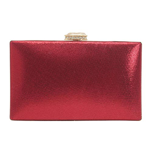 Clutches Wallets Wedding Wocharm Party Purse Flower Beaded Red Small Handbag Women's 7qzq5a