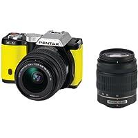 Pentax K-01 16MP APS-C CMOS Mirrorless Digital Camera with Dual Lens Kit 18-55mm, 50-200mm (Yellow)