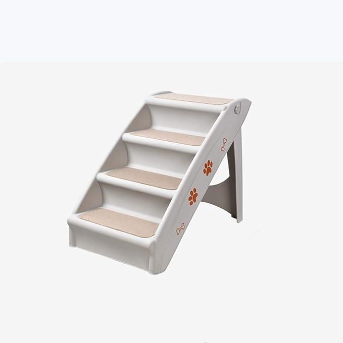 Plegable Escaleras De Mascotas,portátil Escaleras Del Animal Doméstico Antideslizante 4-steps Escalera De Cama Para Mascotas Rampa Para Mascotas En Plástico-gris58x50x38cm(23x20x15inch): Amazon.es: Bricolaje y herramientas