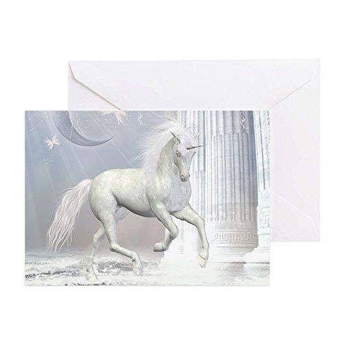 CafePress White Unicorn 2 Greeting Card, Note Card, Birthday Card, Blank Inside Matte