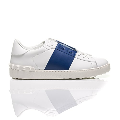 outlet largest supplier Valentino Open Blue Striped Leather Sneakers clearance cheap real outlet websites sale low price fee shipping MdLIZ9SA