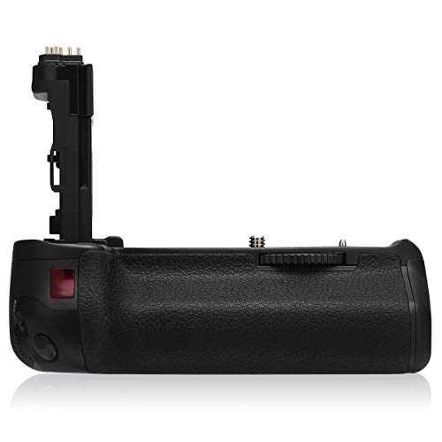 Powerextra BG-E14 Vertical Battery Grip + AA-size Battery Holder for Canon EOS 70D/80D Digital SLR Camera - Work With LP-E6/LP-E6N Batteries or 6 Pcs AA-size battery