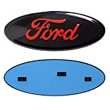 """Automotive : Ford Front Tailgate Emblem, Oval 9""""X3.5"""", Red Decal Badge Nameplate for 04-14 F150 F250 F350, 11-14 Edge, 11-16 Explorer, 06-11 Ranger"""