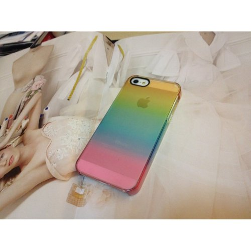 Uncommon - C0090-H - Apple iPhone 5/5S Deflector Hülle in Rainbow Clear