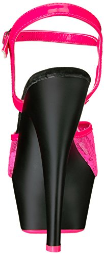 Pleaser KISS-209ML - Neon H. Pink/Blk Matte