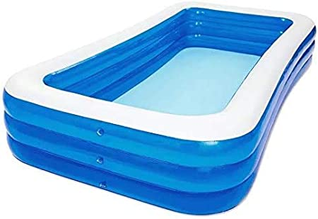 43inches Inflatable Swimming Pool Blow Up Pool for Family Kids Backyard Foldable
