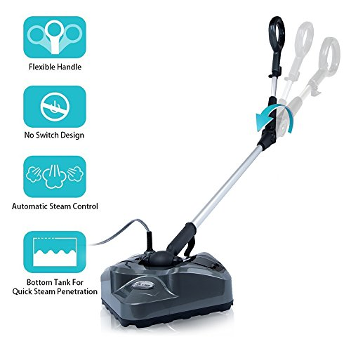 - Steam Mop - Floor Steamer S7339 Automatic Steam Control Light n Easy Bendable Handle Steam Mops For Tile Hardwood Floor Cleaning,One Microfiber Pad Included,20FT Cord