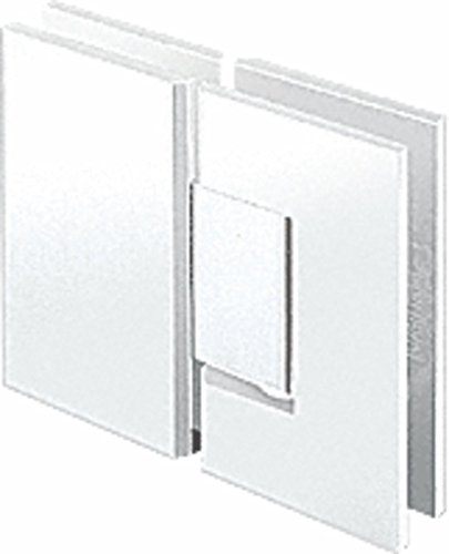 Center Block Chrome - CRL Junior Geneva 180 Series White with Chrome Center Block 180176; Glass-to-Glass Hinge