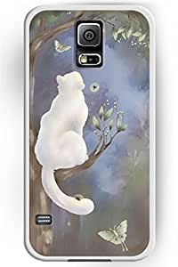 Love For Cat Series Hard Skin Case Cover Shell for Samsung Galaxy S5 Galaxy SV Galaxy S V 2014 Snow Cat by icecream design