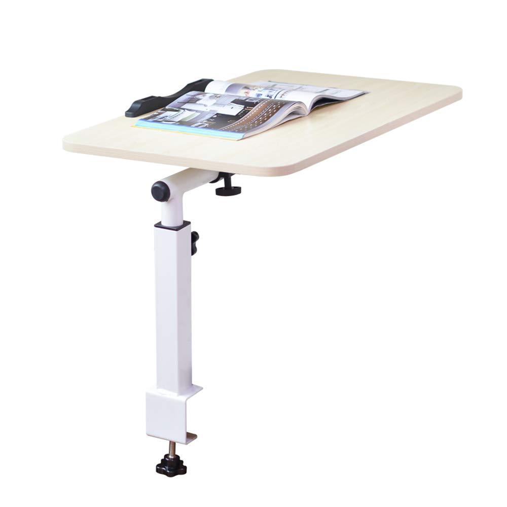 YNN ポータブルテーブル ラップトップテーブルベッドフォールド寮ルーム怠惰なデスク小さなテーブルベッドルームスタディテーブル収納テーブル (色 : White maple)  White maple B07PPKCQVM