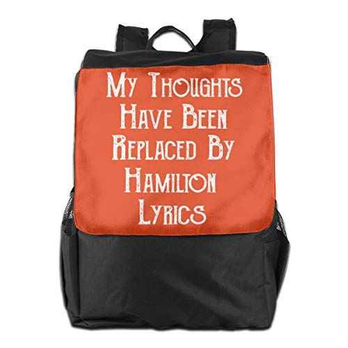 My Thoughts Replaced By Hamilton Lyrics? Travel Backpack Women Mens Shoulders Bags For Camping ()